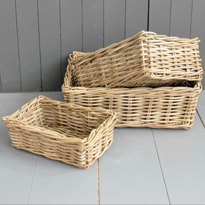 kubu rectangular willow baskets
