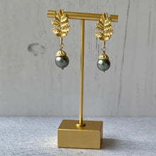 Charger l'image dans la galerie, Acorn Grey Pearl Drop Earrings