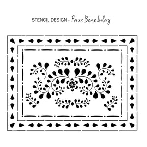 Annie Sloan Stencil Faux Bone Inlay