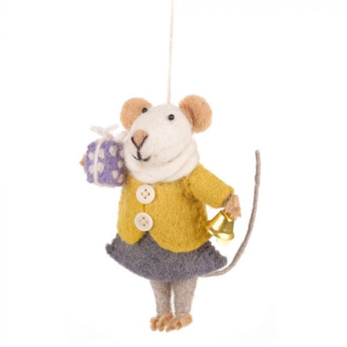 agnes the mouse christmas tree decoration