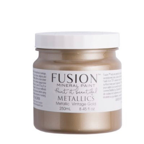 Fusion Mineral Paint Metallic Vintage Gold 250ml