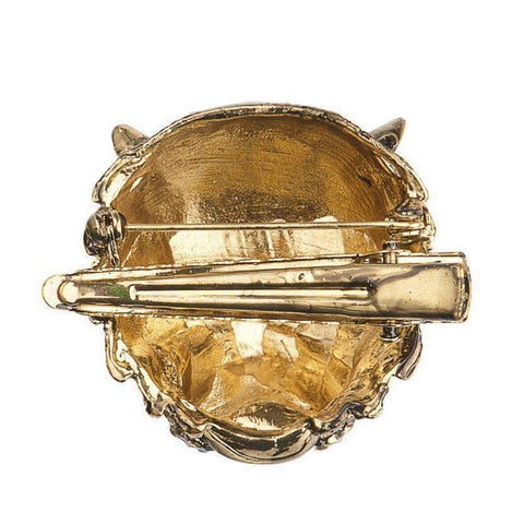 Tiger's Head Crystal Brooch & Hair Clip - La Di Da Interiors