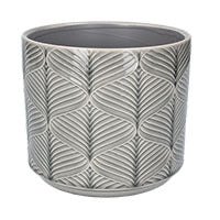 Wavy Ceramic Pot Medium Grey - La Di Da Interiors