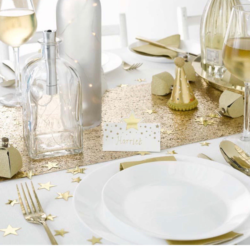 Gold Star Table Name Placecards