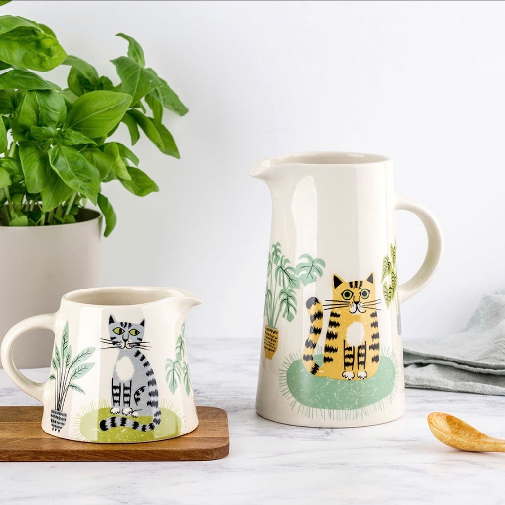 large cat jug by hannah turner