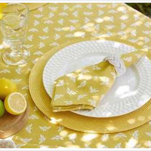 Bumble Bee Yellow Cotton Napkins Set of 4