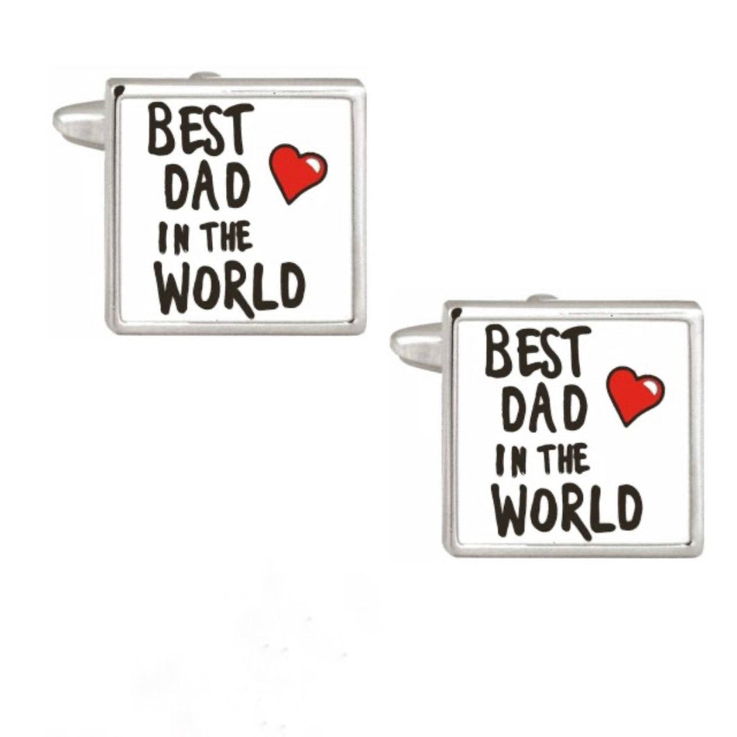 Best Dad in the World Cufflinks - La Di Da Interiors