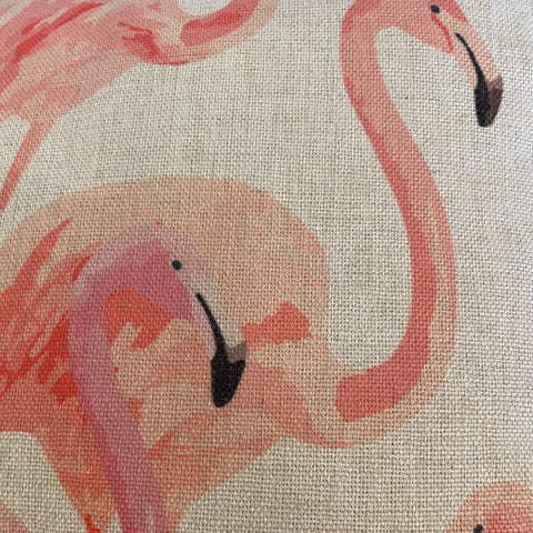 Flamingo print cushions