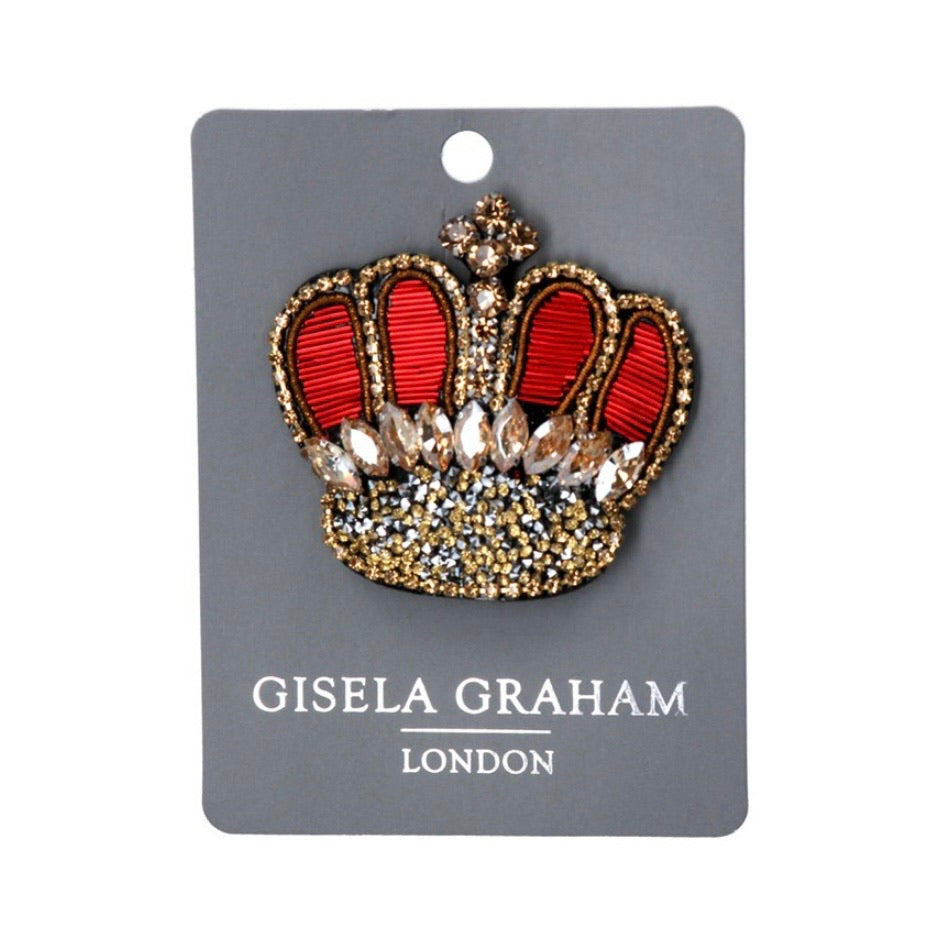 Red Crown Brooch
