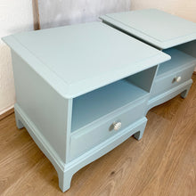 Load image into Gallery viewer, Refinished pair of bedside cabinets