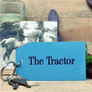 The Tractor Wooden Painted Keyring