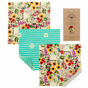 Beeswax Wraps - The Lunch Pack - La Di Da Interiors