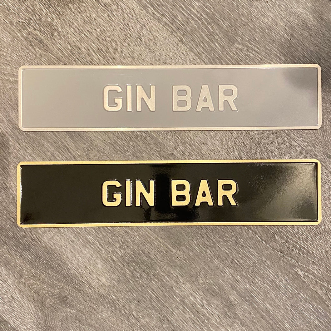 Gin Bar Sign - La Di Da Interiors