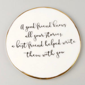 Best Friend Ceramic Coaster
