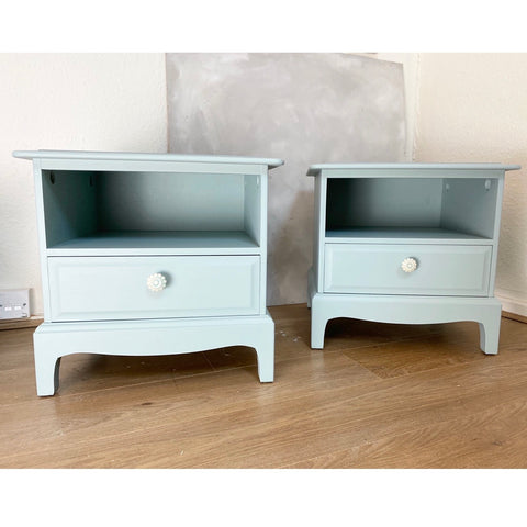 Refinished pair of bedside cabinets