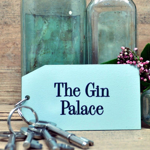 The Gin Palace Wooden Painted Keyring