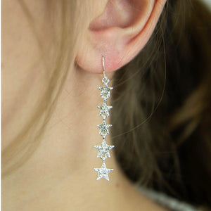 Crystal star drop earrings - La Di Da Interiors