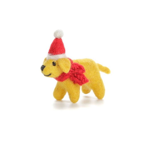 golden labrador puppy christmas tree decoration