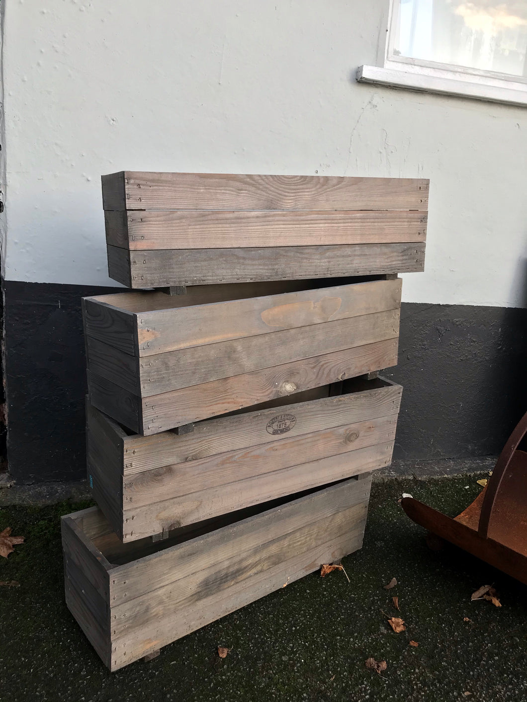 Wooden Rectangular Planters - La Di Da Interiors