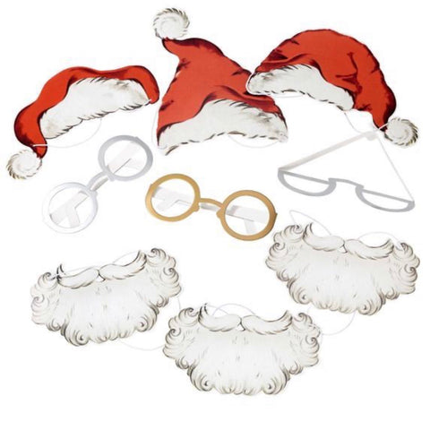 Santa Christmas Photobooth Props