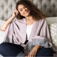 Load image into Gallery viewer, Reversible Wrap Pink & Grey