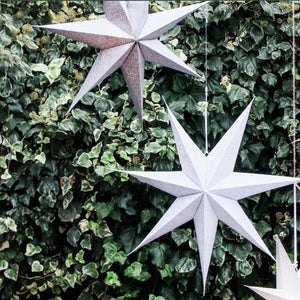 Grey Light Up Star 75cm