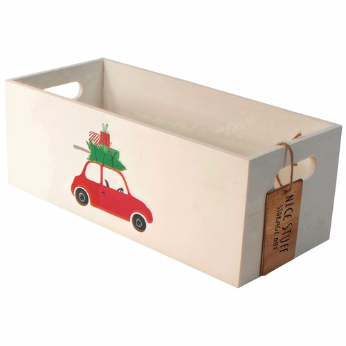 wooden christmas crate