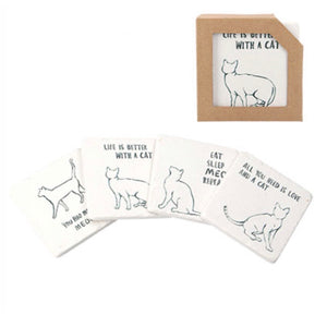 Cat Design Coasters set of 4 - La Di Da Interiors