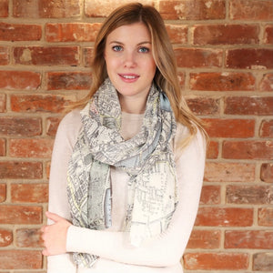 London Vintage Map Scarf