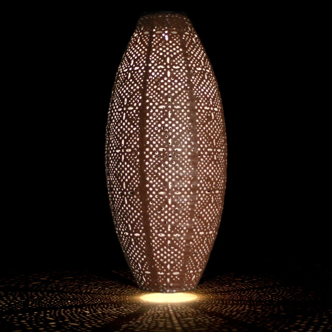 brown oval solar lamp