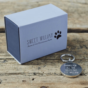 """Obedience classes are for wimps"" Dog Collar Tag - La Di Da Interiors"
