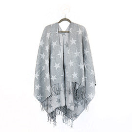 Grey star reversible poncho - La Di Da Interiors