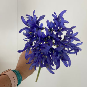 Purple agapanthus faux flower stem