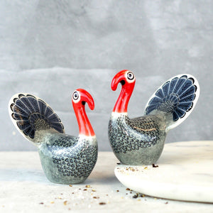 Turkey Salt and Pepper Set by Hannah Turner