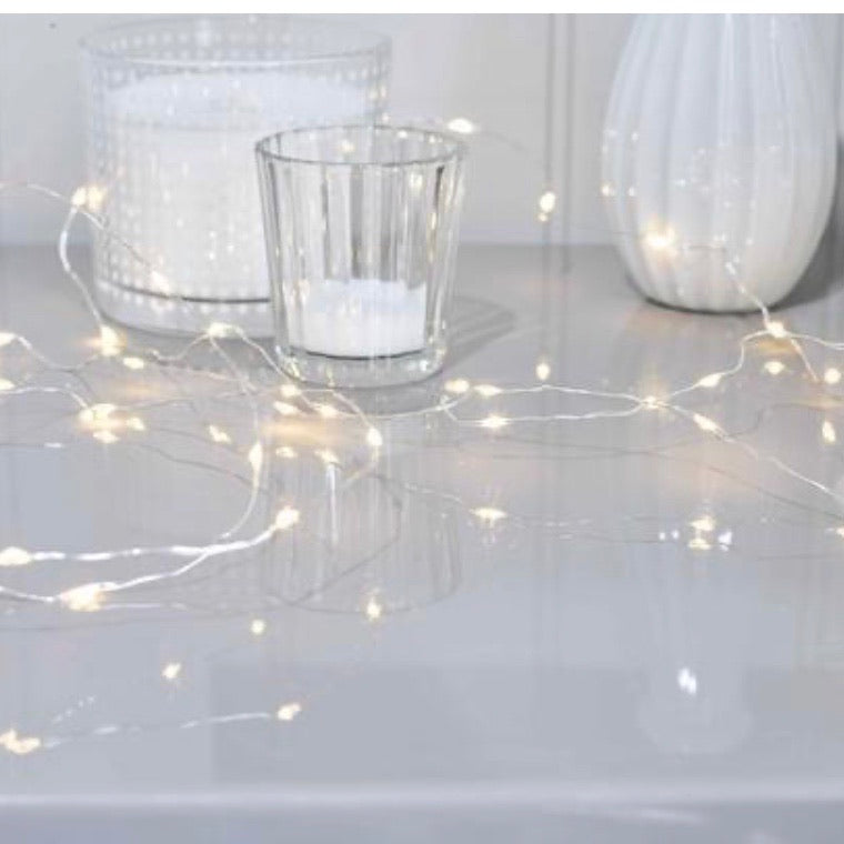 Silver string LED lights - La Di Da Interiors