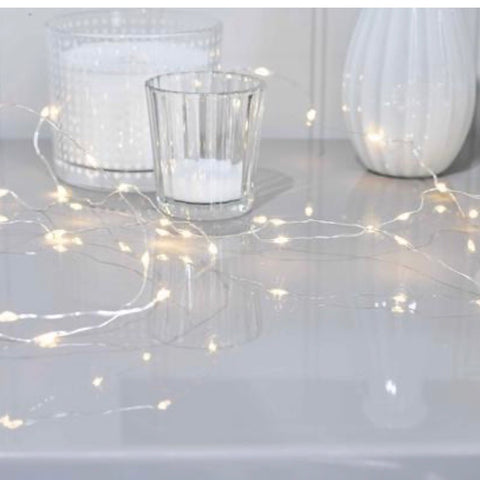 Silver string LED fairy lights