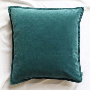 Pacific Green Velvet Cushion