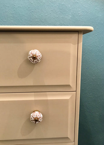 Caramel Refinished Painted Chest of Drawers SOLD - La Di Da Interiors