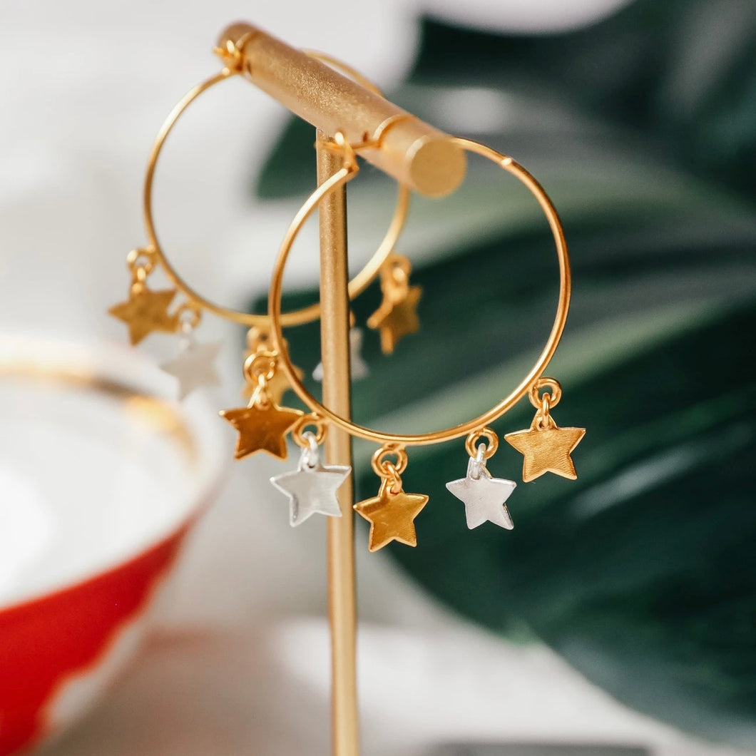 super star earrings