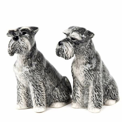 Schnauzer Salt & Pepper Cruet Set by Quail - La Di Da Interiors