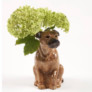 Border Terrier Flower Vase by Quail - La Di Da Interiors