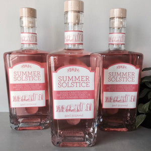 Summer Solstice Gin 50cl 37.5% Hibiscus Infused - La Di Da Interiors