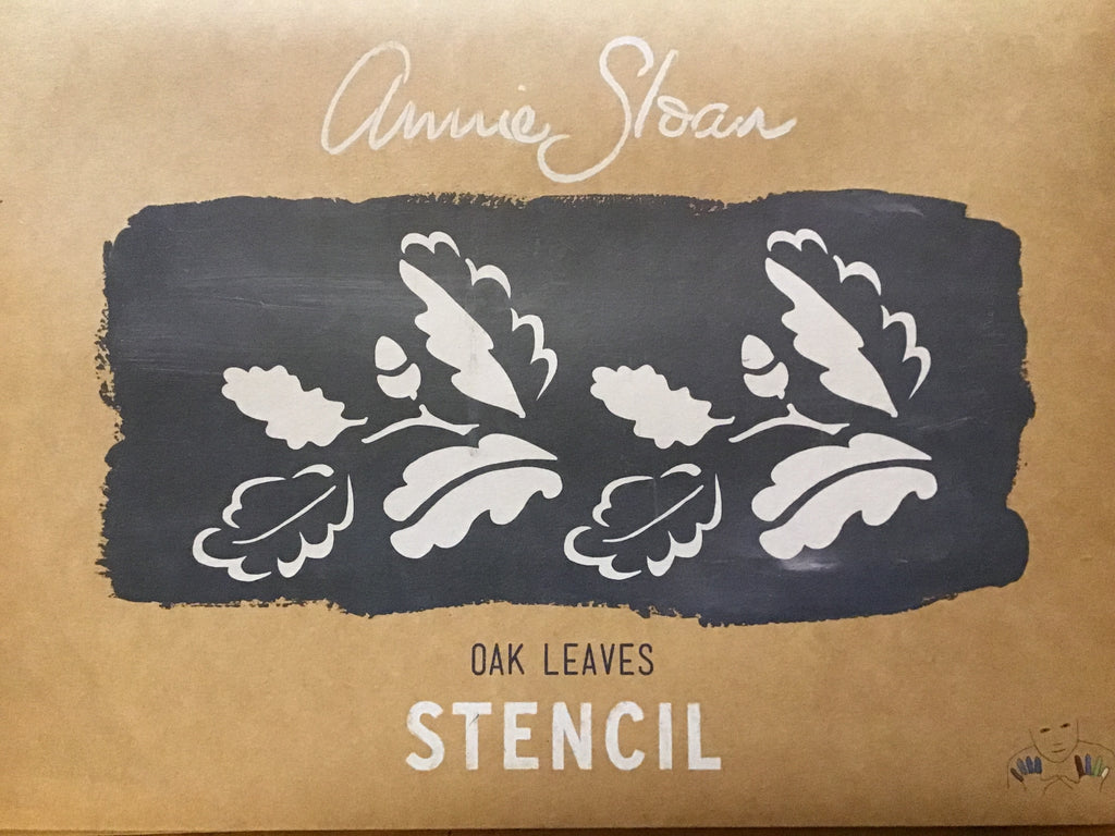 Annie Sloan Stencil - Oak Leaves - La Di Da Interiors