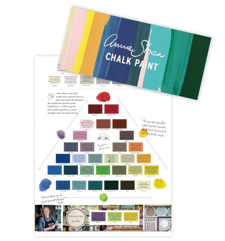 Annie Sloan Chalk Paint Colour Chart Card