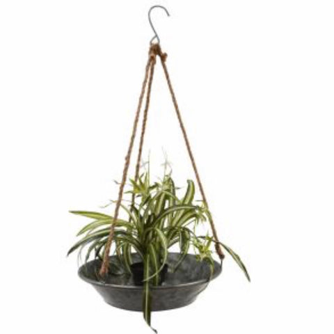 Zinc Rope hanging tray ideal for plants
