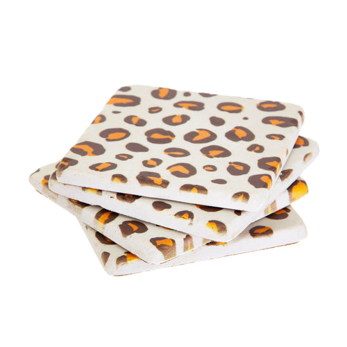 Leopard Print Coasters set of 4 - La Di Da Interiors