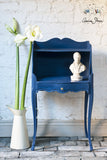 Painted furniture in Napoleonic Blue Annie Sloan Chalk Paint
