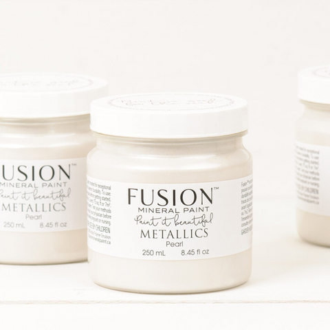 Fusion Mineral Paint Metallic Pearl 250ml - La Di Da Interiors
