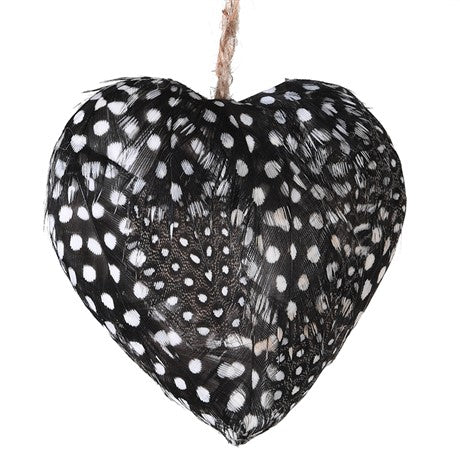 Spotty Guinea Fowl Spotty Feather Bauble - La Di Da Interiors