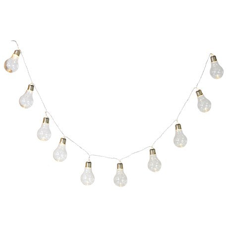 String of 10 LED Lightbulb Style Lights - La Di Da Interiors